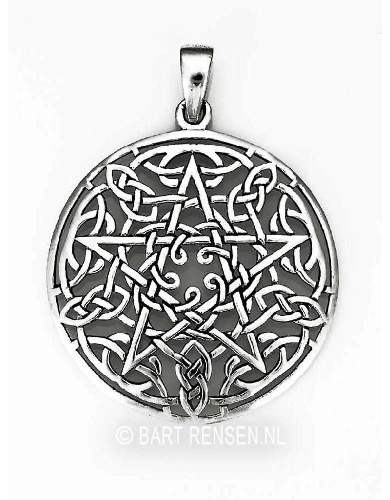 Celtic Pentagram pendant - sterling silver