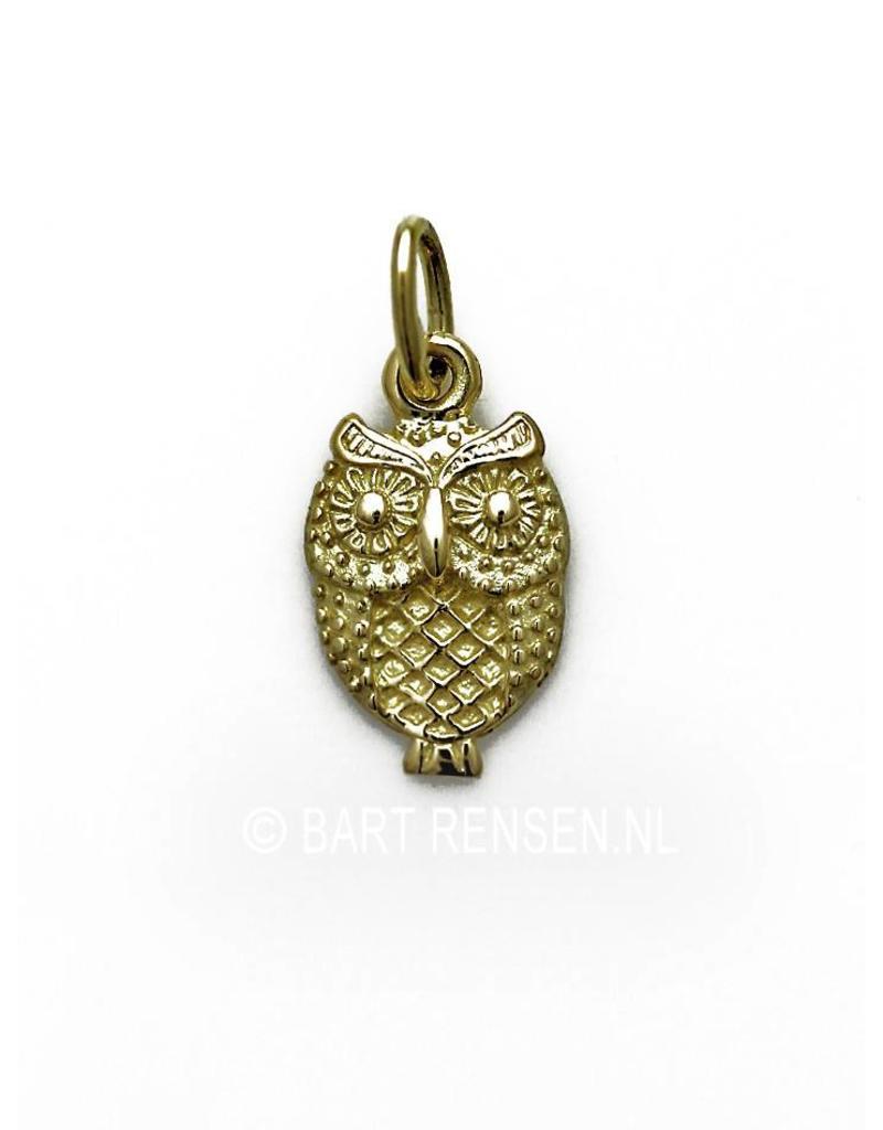 Owl pendant - 14 crt gold