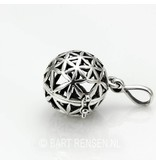Flower of Life Ball pendant - sterling silver