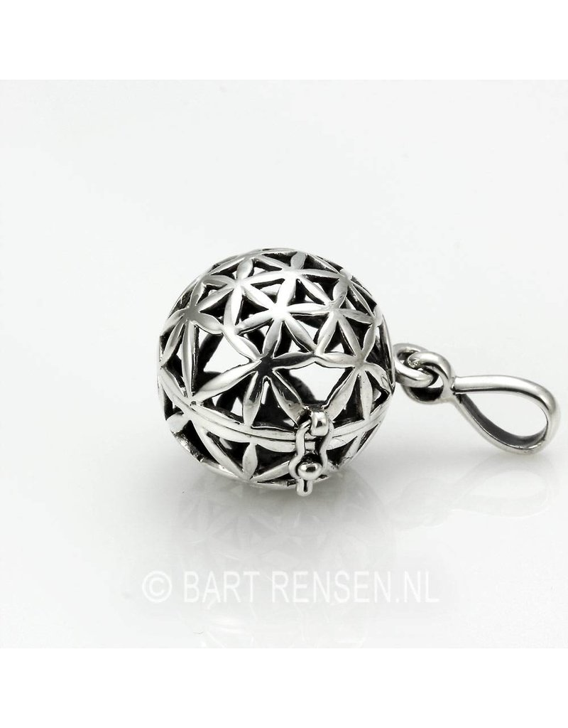 Flower of Life Bol hanger - echt zilver