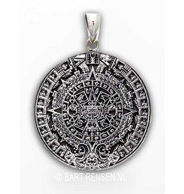 Aztec calendar - silver