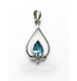 Lotus Pendant with gemstone
