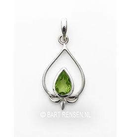 Lotus Pendant with gemstone