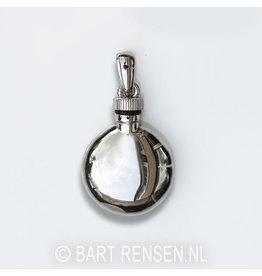 Round Ash pendant - silver