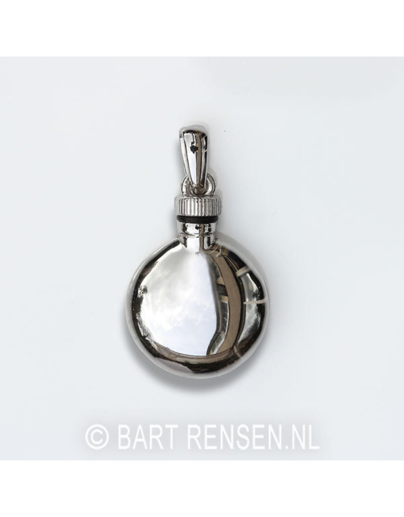 Round Ash pendant - sterling silver