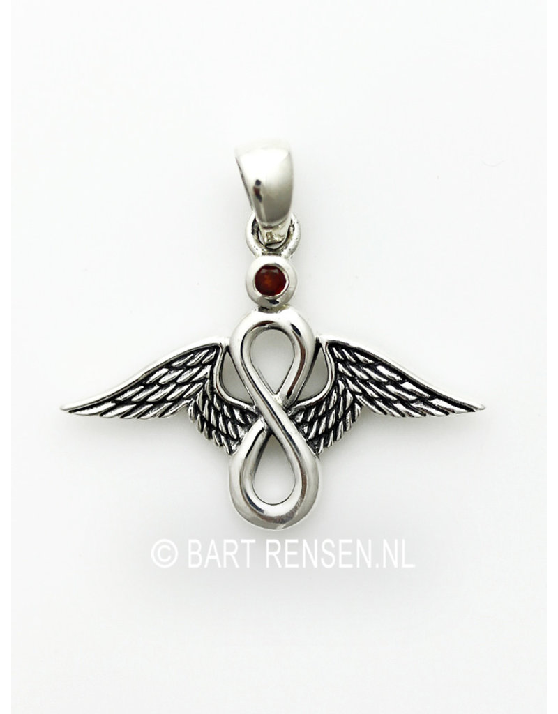Lemniscaat Engel hanger - echt zilver
