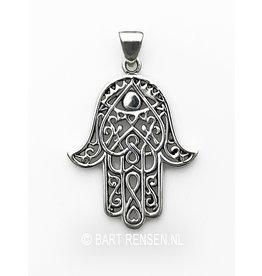 Silver Hamsa hand pendant