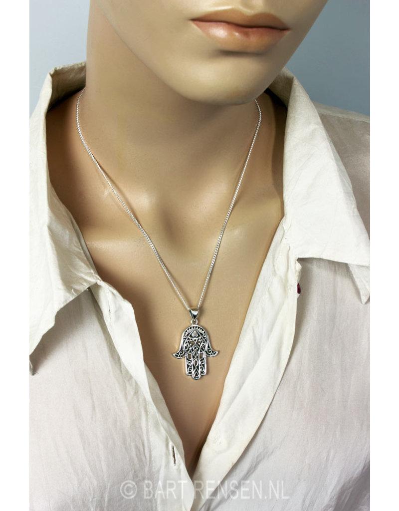 Hand of Fatima pendant - sterling silver