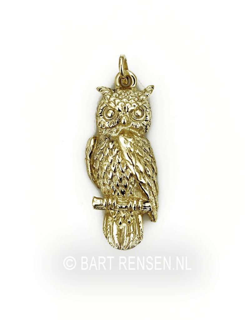 Owl Owl memorial  pendant - sterling silver