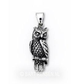 Owl memorial pendant - silver