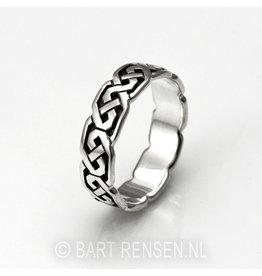 Zilveren Keltische Ring