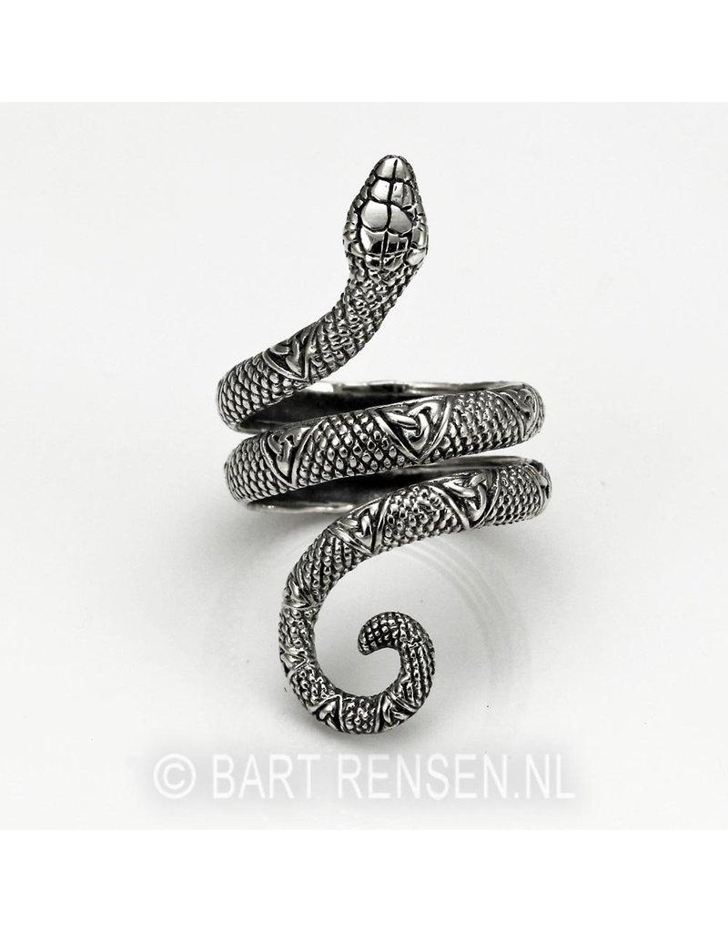 Slangen ring - echt zilver