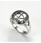 Vesica Pisces - sterling silver