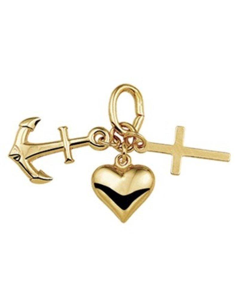 Geloof Hoop Liefde hanger - 14 krt goud