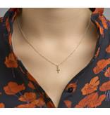 Cross pendant - 14 carat gold