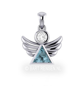 Angel pendant with precious stones