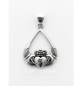 Claddagh hanger - zilver