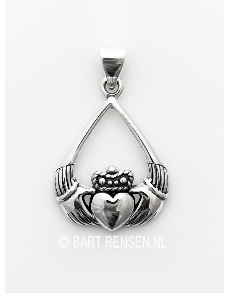 Claddagh hanger - echt zilver