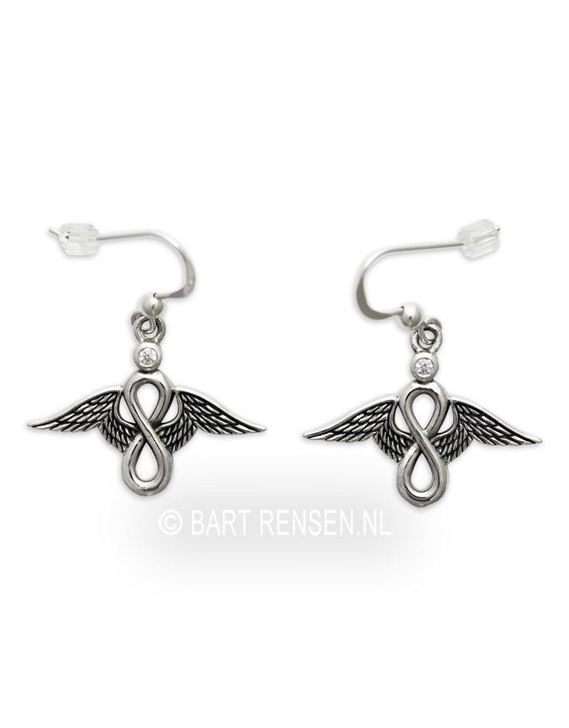 Lemniscate Angel Earrings - sterling silver