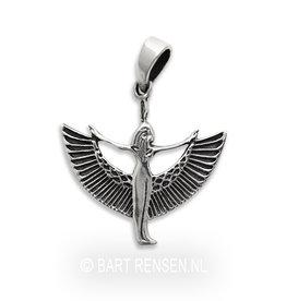Zilveren Isis hanger