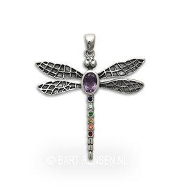 Zilveren Libelle hanger