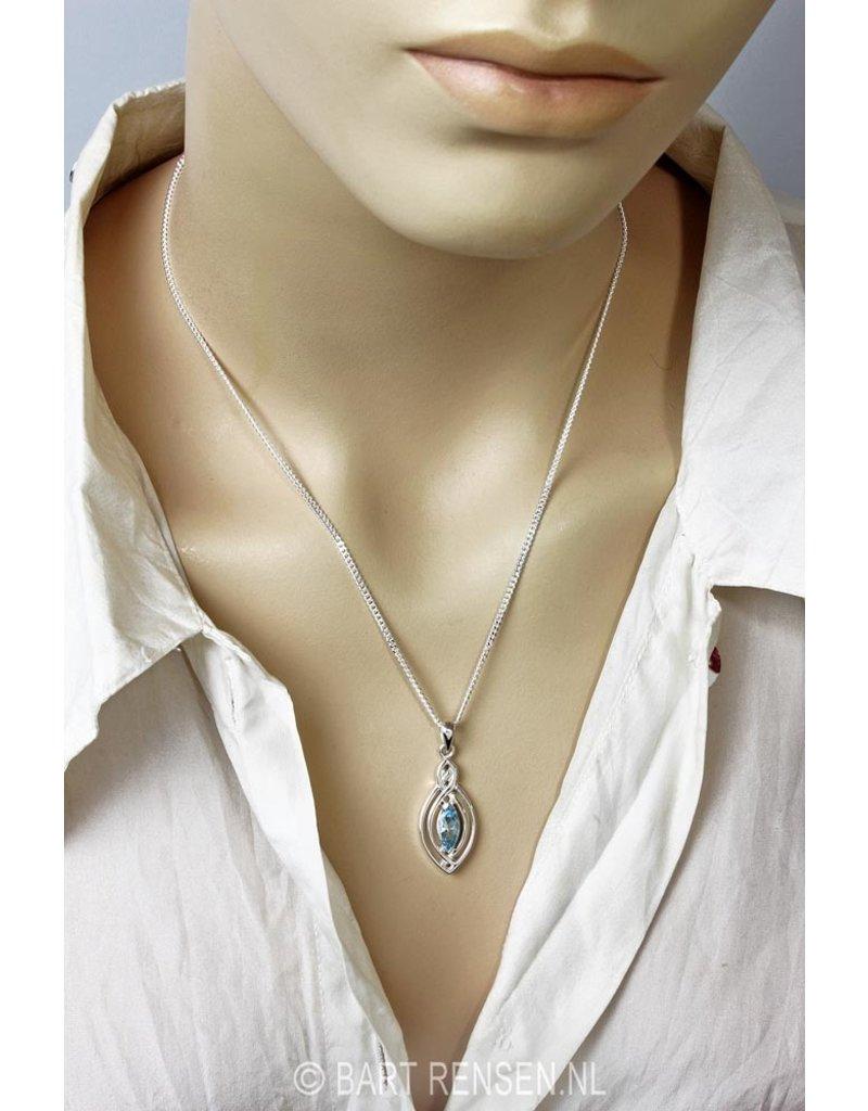 Celtic pendant with gem - sterling silver