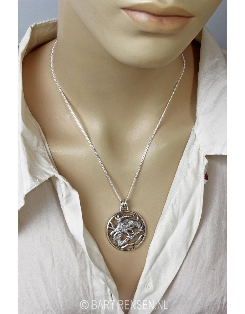Raven pendant - sterling silver