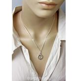 Silver Fibula earrings with Moon stone