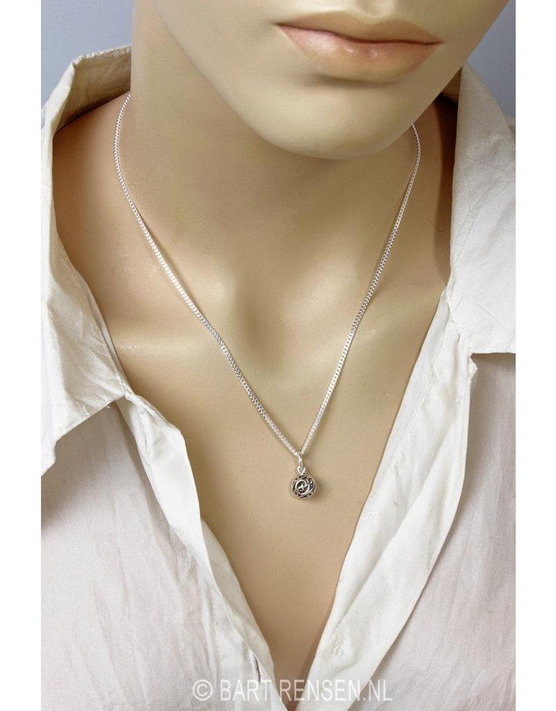 Ball earrings  -  sterling silver