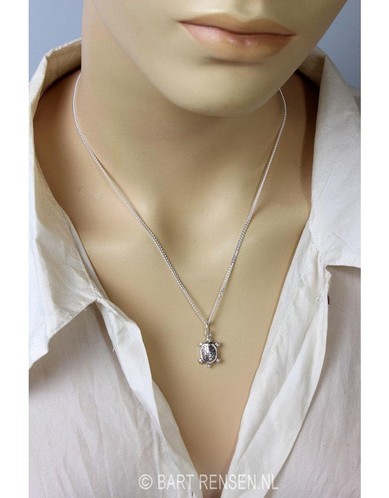 Schildpad Oorhangers - echt zilver