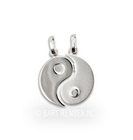 Yin-Yang breek hanger - zilver