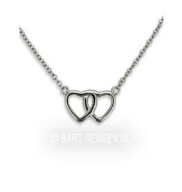 Heart pendant - silver