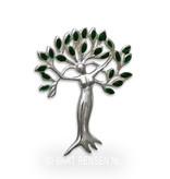 Levensboom - Vrouw hanger - echt zilver