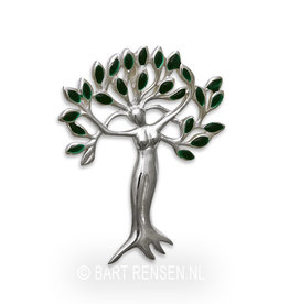 Tree of Life - Woman pendant - silver