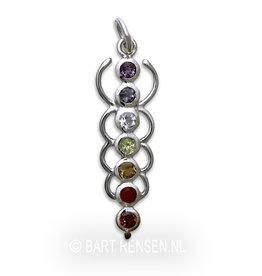 Chakra pendant - silver