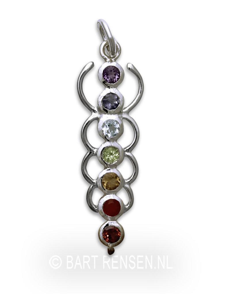 Chakra hanger - met edelsteen - echt zilver