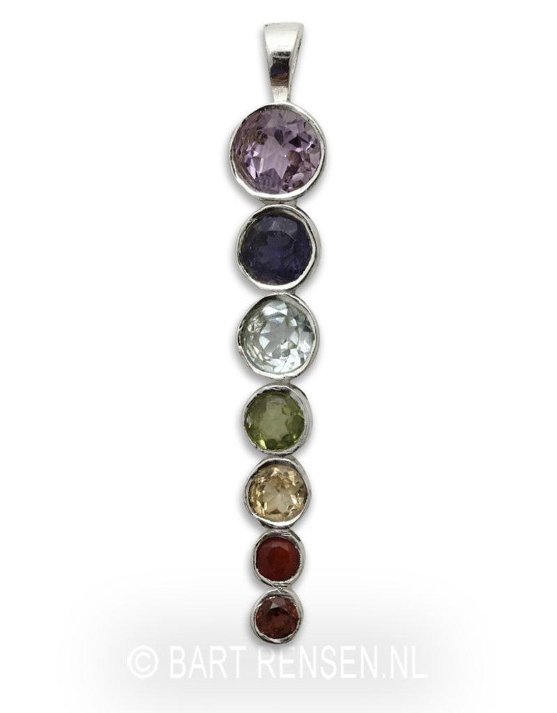 Chakra hanger met edelstenen - echt zilver