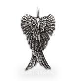 Angel pendant - sterling silver