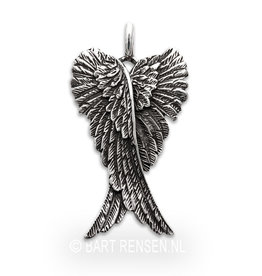 Angel wings pendant - silver