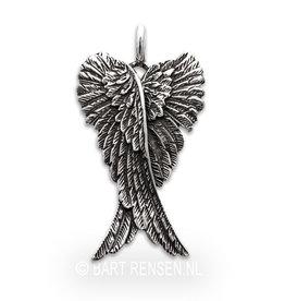 Engelvleugels hanger - zilver