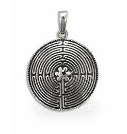 Labyrint hanger - zilver