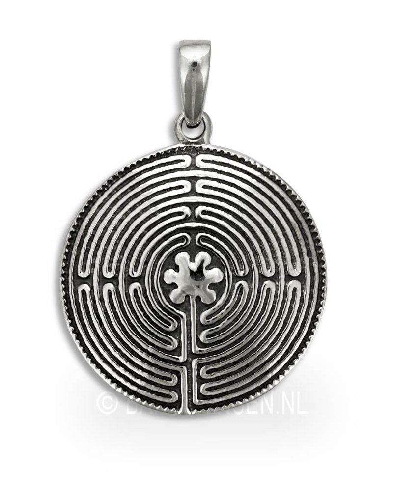 Labyrint hanger - echt zilver