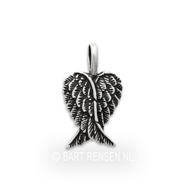 Angel-wings pendant - silver