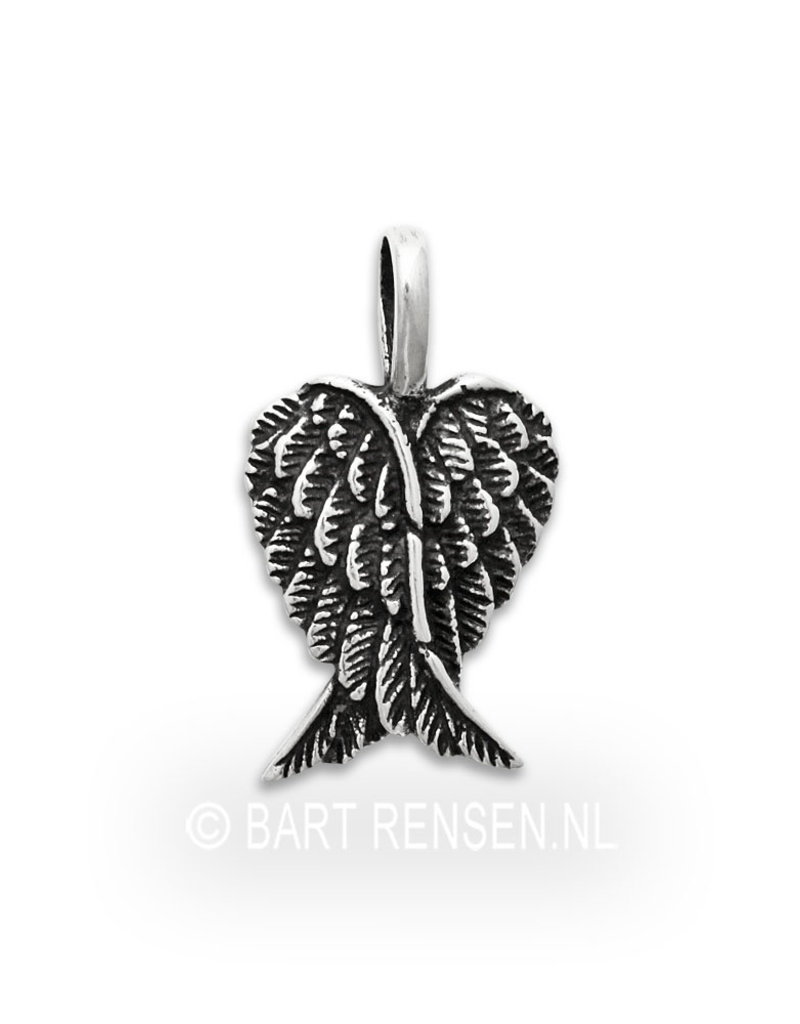 Angel-wings pendant - sterling silver
