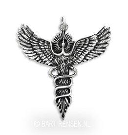 Feniks hanger - zilver