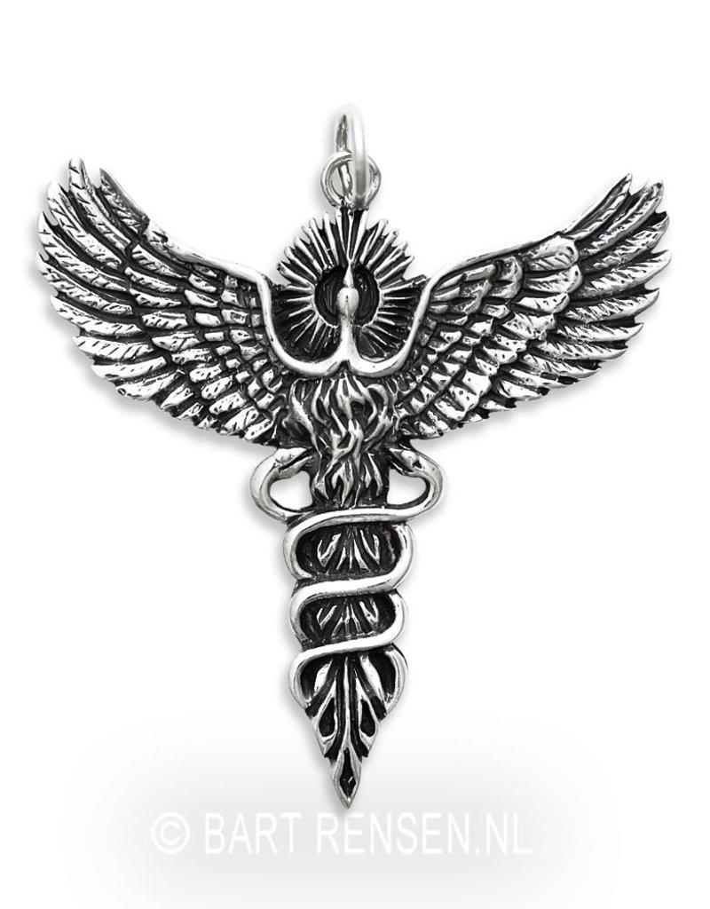 Feniks  hanger - echt zilver