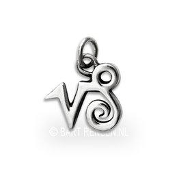 Capricorn pendant - silver