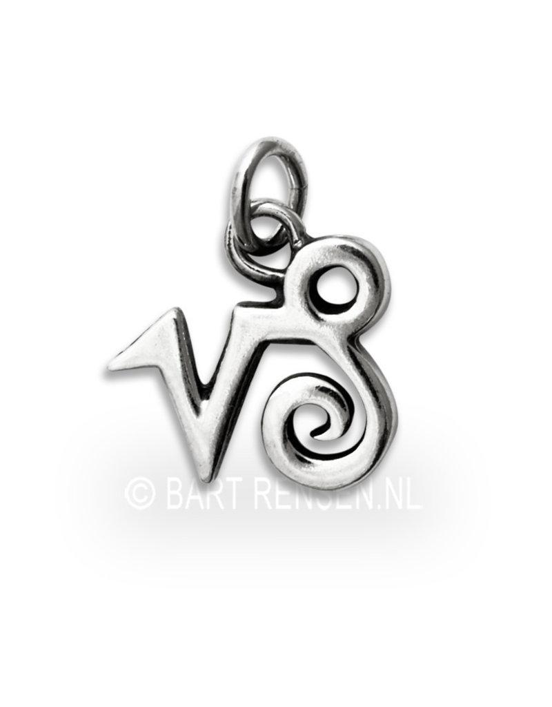 Capricorn pendant - sterling silver