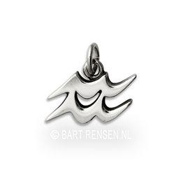 Aquarius pendant - silver
