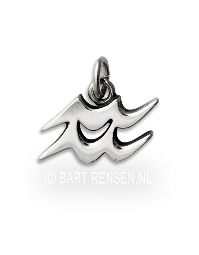 Aquarius pendant - sterling silver